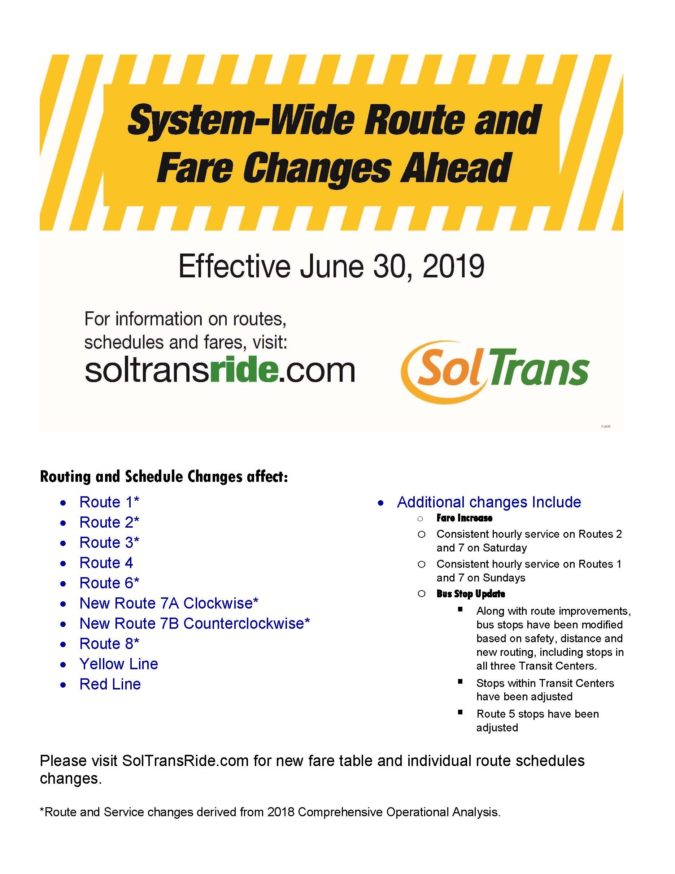 SolTrans Services Changes